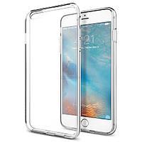 """Ультратонкая, силиконовая накладка с эффектом """"не прилипания"""" Spigen Liquid Armor для iPhone 6 Plus / 6S Plus - прозрачная (SGP11642)"""