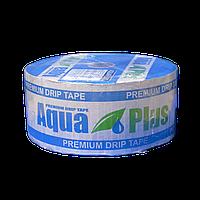 Крапельна стрічка Аква Плюс AquaPlus 8 mil через 20 см 500 л в час щілинна 500 м