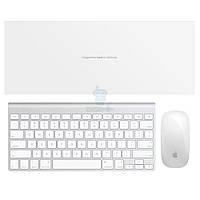 Оригинальный набор аксессуаров Apple от персонального компьютера iMac - Wireless Keyboard (Раскладка - US, гравировка - RU / UA) + Magic Mouse