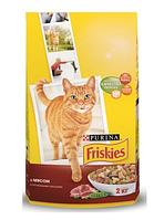 Корм ФРИСКИС сух для кошек курица/овощи  на развес 1 кг (Friskies)