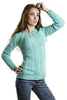 Нежный женский мятный свитер
