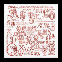 Набор для вышивки крестом 2093 Старинный Семплер с Буквами. Antique Character Sampler  (Теа Гувернер)