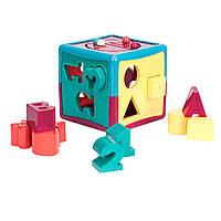 Развивающая игрушка-сортер УМНЫЙ КУБ 12 форм Battat (BT2404Z)