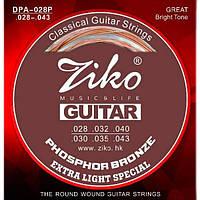 Ziko ZIKO DPA-028P Струны классической гитары нейлон/фосфорная бронза