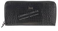 Стильный женский классический кожаный тисненый кошелек барсетка высокого качества FANE art. 157 S-5245 черный