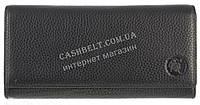 Прочный женский кожаный кошелек высокого качества CEFIRO art. 388-3066B-1 черный