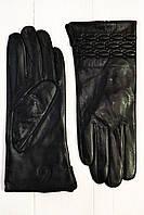 Женские кожаные перчатки Сорбет черный