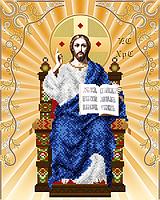 Схема для вышивки бисером СПАСИТЕЛЬ НА ПРЕСТОЛЕ