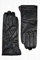 Женские кожаные перчатки Клафути черный