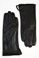 Женские кожаные перчатки Мадлен черный размер 6,5