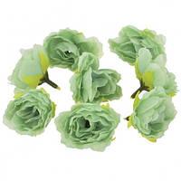 Цветы Розы Мятные из ткани 4 см 1 шт