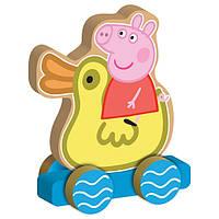 Деревянная игрушка-каталка Peppa ВЕСЕЛОЕ ПУТЕШЕСТВИЕ (24444)