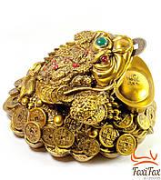 Талисман денежная жаба с монетой во рту