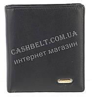 Небольшой стильный кожаный мужской кошелек из мягкой кожи H.VERDE art. 8550N черный