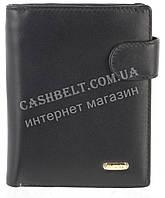 Небольшой стильный кожаный мужской кошелек из мягкой кожи H.VERDE art. 8321BN черный