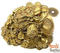 Большая статуэтка Жаба с монетой 25 см