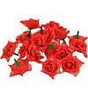 Цветы Розы Красные из ткани 4.5 см 1 шт