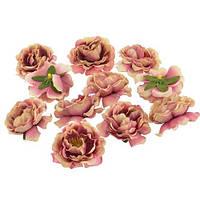 Цветы Шиповника Кремово-розовые из ткани 5.5 см 1 шт