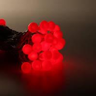 Гирлянда нить шарики 5м красные LED