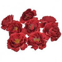 Цветы Шиповника Красные из ткани 5.5 см 1 шт
