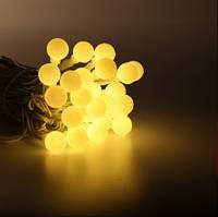 Гирлянда нить шарики 5м теплобелая LED