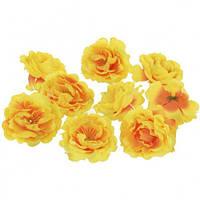Цветы Шиповника Желтые из ткани 5.5 см 1 шт