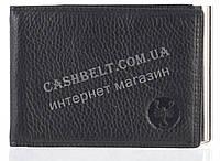 Стильный оригинальный кожаный мужской зажим для денег CEFIRO art. CE388-3013-1 черный
