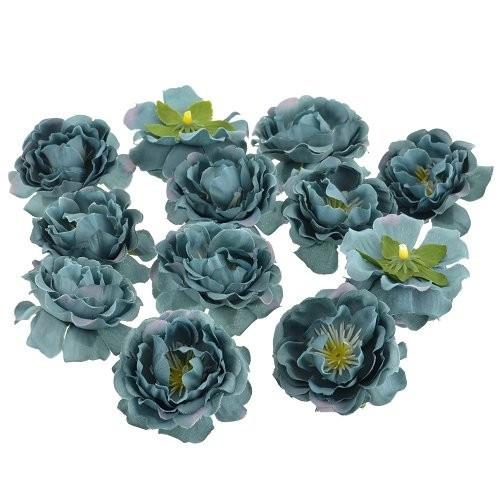 Цветы Шиповника Морской зеленый из ткани 5.5 см 1 шт