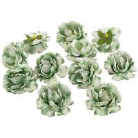 Цветы Шиповника Оливковые из ткани 5.5 см 1 шт