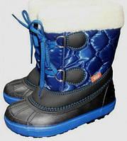 Детские зимние сапоги-дутики Demar (Демар) Furry синие р.20--29 теплющие
