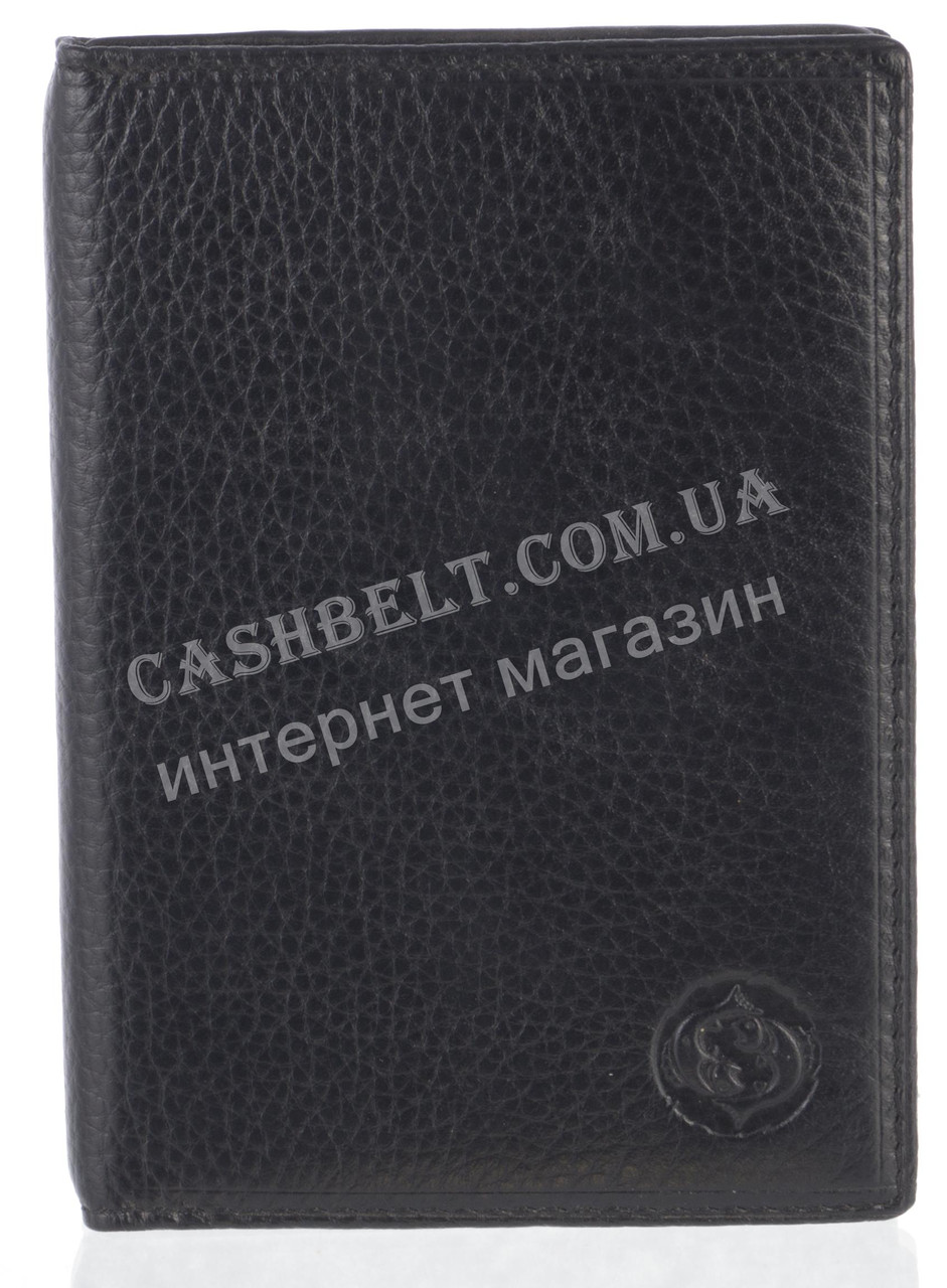 Стильная надежная кожаная обложка-документница высокого качества CEFIRO art.CE388-305B-1 черный