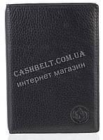 Стильная надежная кожаная обложка-документница высокого качества CEFIRO art.CE388-305B-1 черный, фото 1