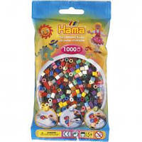 Бусины для термомозаики 1000 шт, 22 цвета,  Midi 5+  Hama 207-67
