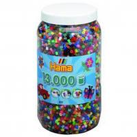 Бусины термомозаики 13 000шт, 50 цветов,  Миди от 5-ти лет Hama 211-68
