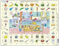 Пазл рамка-вкладыш Larsen Учим английский. Кухня, серия МАКСИ EN1