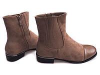 Женские ботинки коричневого цвета  размеры 36-38