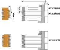 Фрезы для продольного сращивания древесины D250-d50/60-B3,8-z4