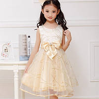 Нарядное платье цвета шампань Pageant Kids