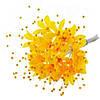 Цветы Лилии с бусинами Желтые из ткани 5 шт/уп
