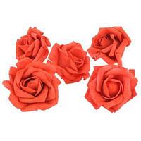 Розы Красные головки из фоамирана (латекса) 5 см 1 шт