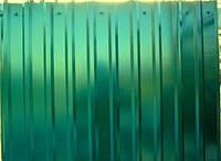 Профнастил  0,35 мм, цвет зеленый RAL 6005, 1,5 м