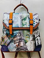 Рюкзак молодежный BATTY с принтом города