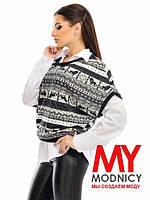 Двойка женская рубашка+жилетка большие размеры Г03365