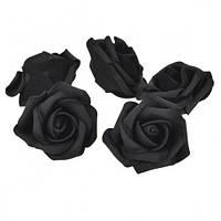 Розы Черные головки из фоамирана (латекса) 5 см 1 шт