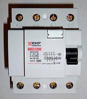 """Устройство защитного отключения (УЗО)  4р 63А/30мА (электронное); """"EKF"""""""