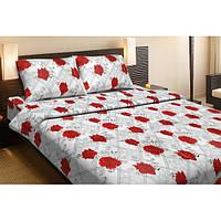 Постельное белье Lotus Ranforce Carmen V1 красное двуспального размера