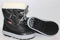 Детские зимние сапоги-дутики Demar (Демар) Furry черные р.30-35 теплющие