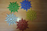 Новогоднее украшение Снежинка №2 12 см, фото 1