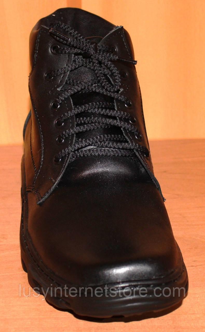 45edf841c ... фото Мужские ботинки зимние на шнурках черные, кожаные ботинки зима на  шнурках модель АМ250, ...