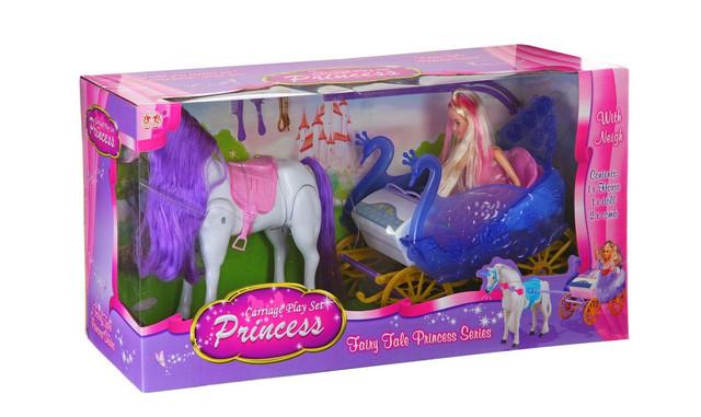 Карета с лошадью и куклой Барби 38386